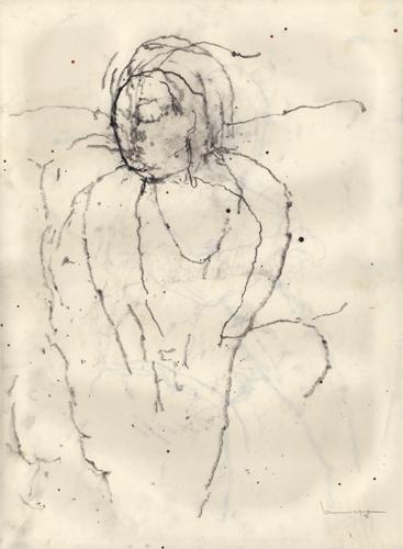 Pierre noire sur papier 42 x 29,7cm